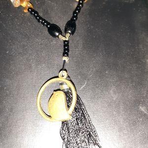 Handcrafted Y necklace